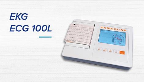 Przenośny aparat EKG ECG 100L