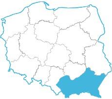 Łukasz Pyza - mapa zasięgu