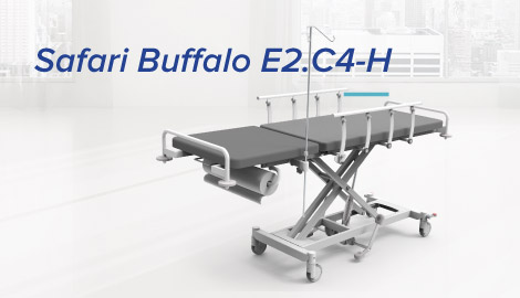 Wózek do transportu chorych - Safari Buffalo E2.C4-H