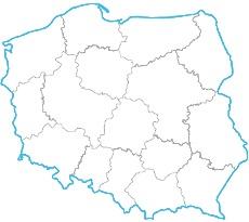 Irena Jurukowa - mapa zasięgu