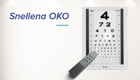 Tablica okulistyczna Snellena OKO do badania wzroku