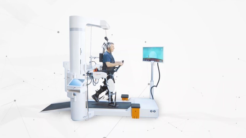 obraz przedstawiający cechy terapii na robocie Lokomat